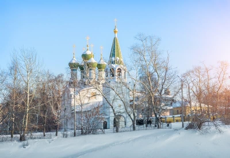 Εκκλησία υπόθεσης σε Nizhny Novgorod στοκ εικόνα με δικαίωμα ελεύθερης χρήσης