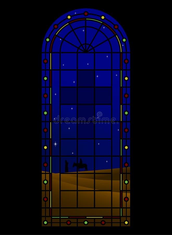 εκκλησία Χριστουγέννων διανυσματική απεικόνιση
