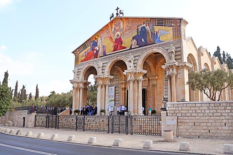 Εκκλησία όλων των εθνών γνωστών επίσης ως βασιλική της αγωνίας, Ιερουσαλήμ, Ισραήλ στοκ φωτογραφία με δικαίωμα ελεύθερης χρήσης