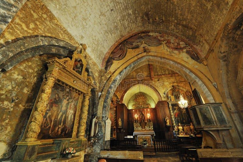 εκκλησία ansouis στοκ φωτογραφία με δικαίωμα ελεύθερης χρήσης