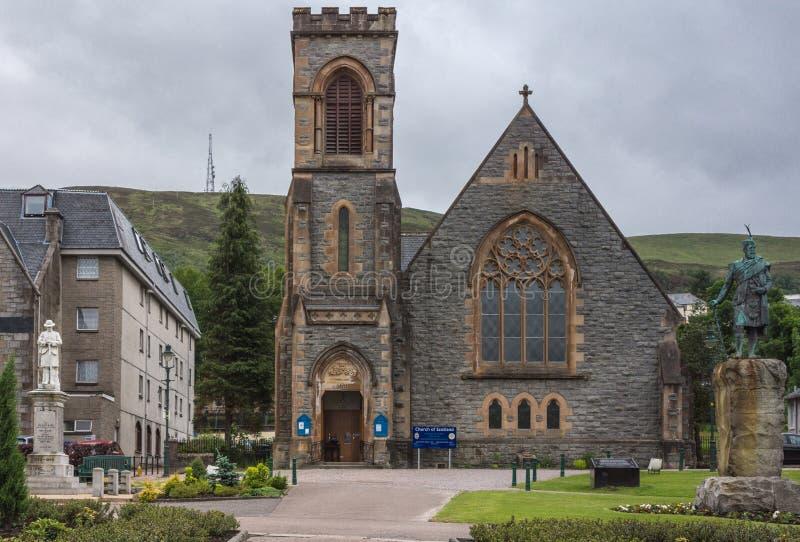 Εκκλησία Duncansburgh της Σκωτίας στο οχυρό William στοκ φωτογραφίες