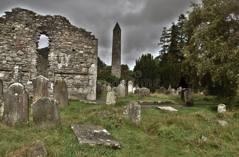 εκκλησία glendalough στοκ φωτογραφίες με δικαίωμα ελεύθερης χρήσης