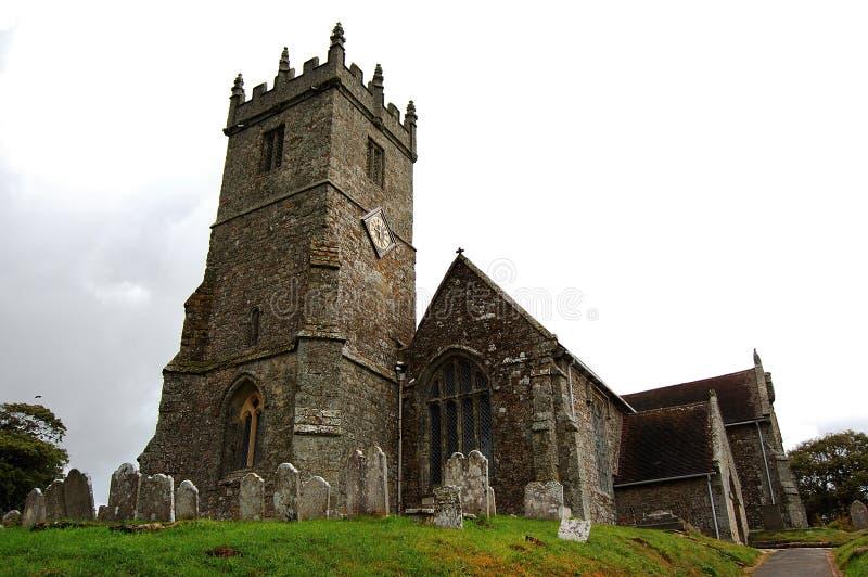 εκκλησία godshill στοκ εικόνες