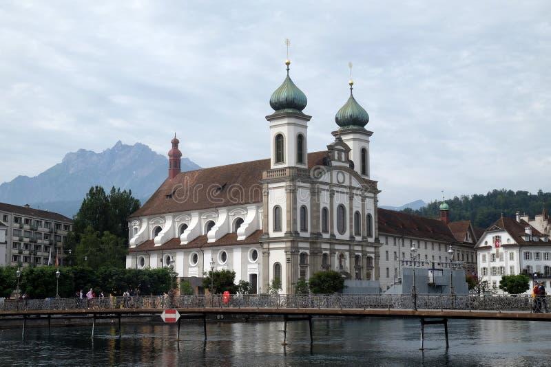 Εκκλησία Jesuit του ST Francis Xavier σε Λουκέρνη στοκ φωτογραφίες