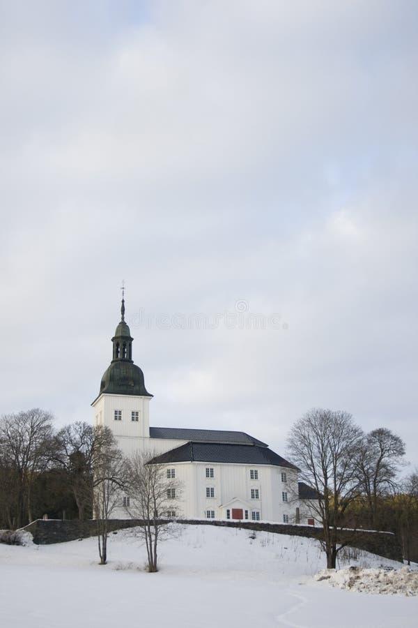 εκκλησία jevnaker στοκ εικόνες