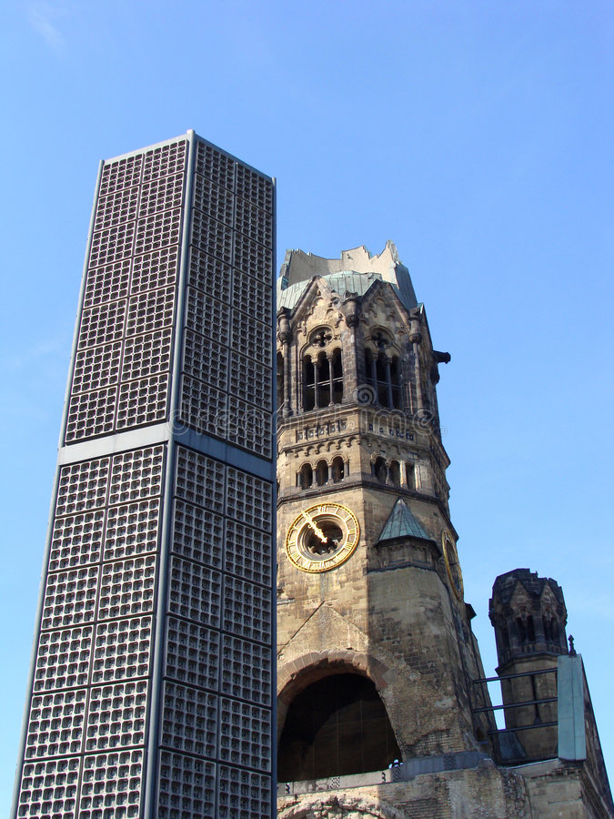εκκλησία kaiser αναμνηστικός William στοκ φωτογραφία
