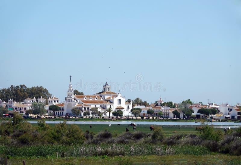 Εκκλησία Nuestra Señora del Rocío στην Ανδαλουσία, Ισπανία στοκ φωτογραφία με δικαίωμα ελεύθερης χρήσης