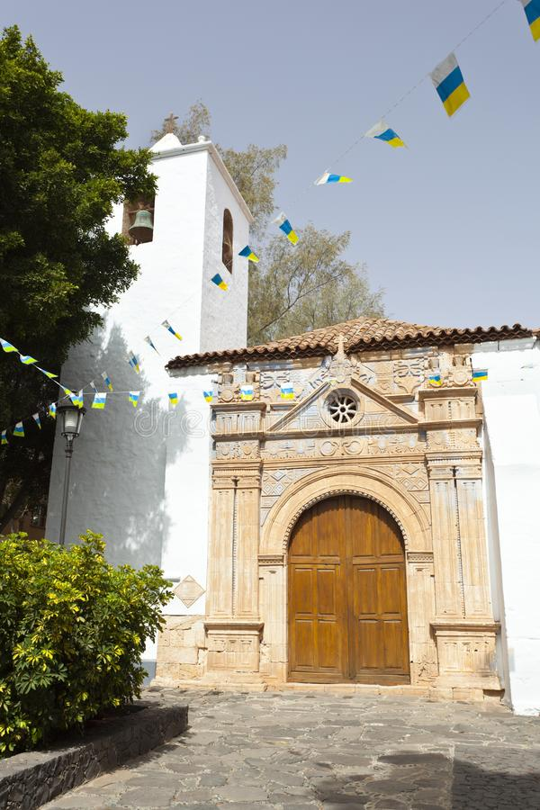 Εκκλησία Pajara, Fuerteventura στοκ εικόνα με δικαίωμα ελεύθερης χρήσης
