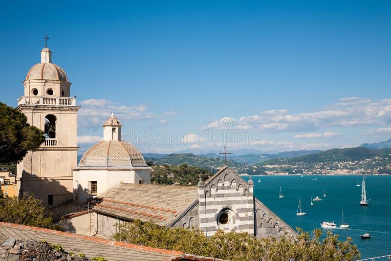 Εκκλησία, Portovenere, Ιταλία στοκ φωτογραφίες με δικαίωμα ελεύθερης χρήσης