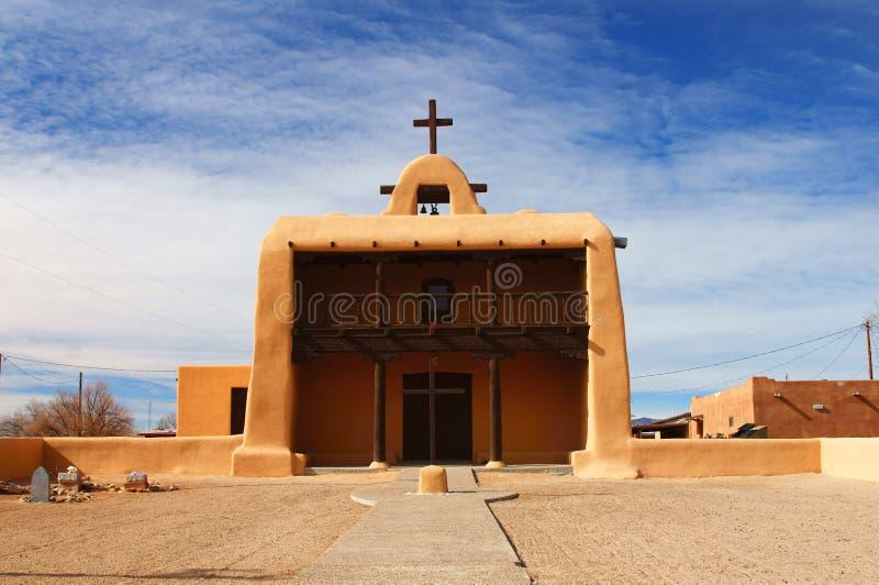 Εκκλησία Pueblos New Mexico στοκ φωτογραφία με δικαίωμα ελεύθερης χρήσης