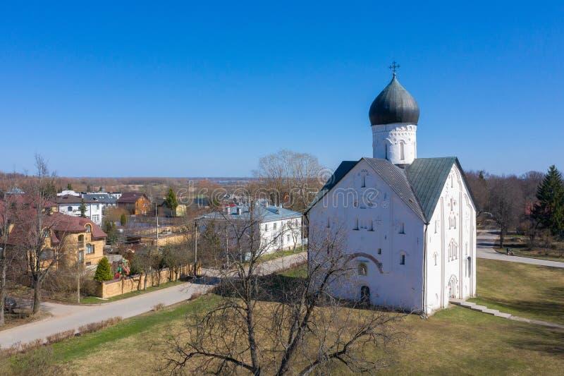 Εκκλησία Savior στην οδό 1374 Ilyina σε Novgorod Veliky, Ρωσία στοκ εικόνες