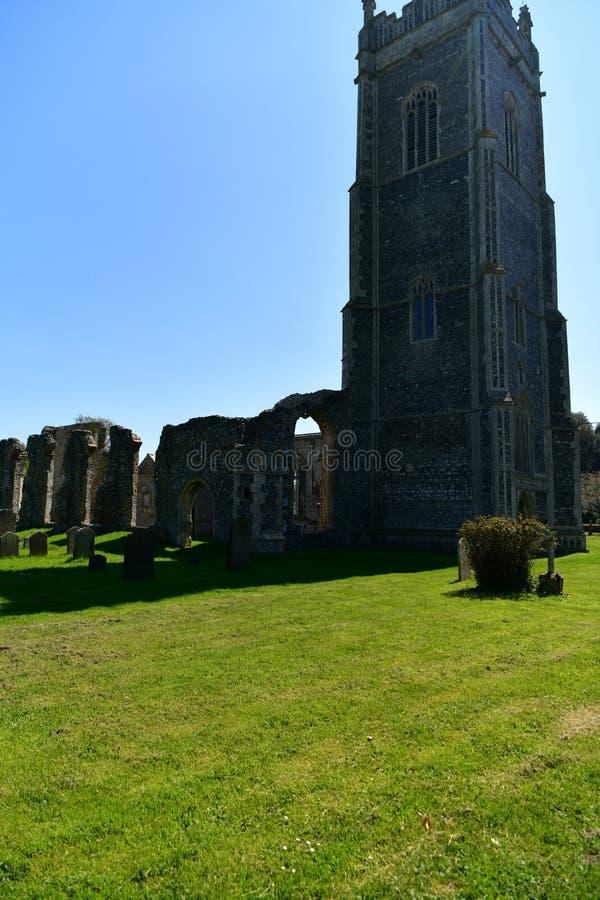 Εκκλησία ST Andrew, Walberswick UK καταστροφών, στοκ φωτογραφία με δικαίωμα ελεύθερης χρήσης