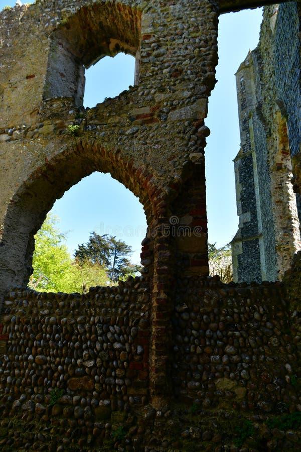 Εκκλησία ST Andrew, Walberswick UK καταστροφών, στοκ φωτογραφία