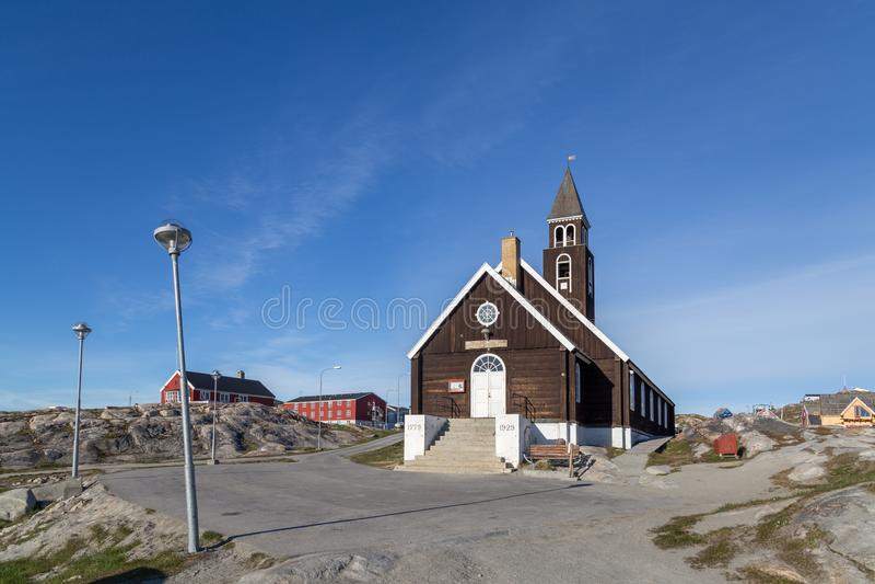 Εκκλησία Zion ` s στο Ιλούλισσατ, Γροιλανδία στοκ φωτογραφίες