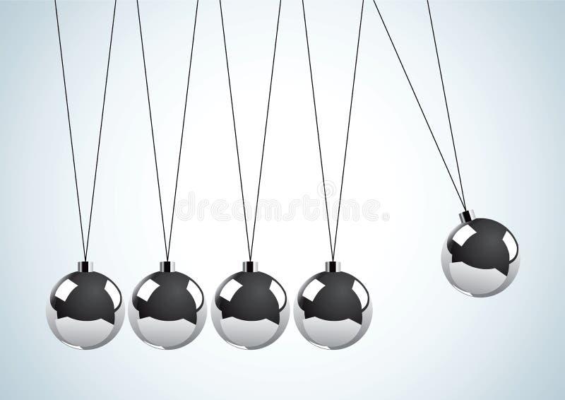 εκκρεμές μετάλλων σφαιρώ& διανυσματική απεικόνιση