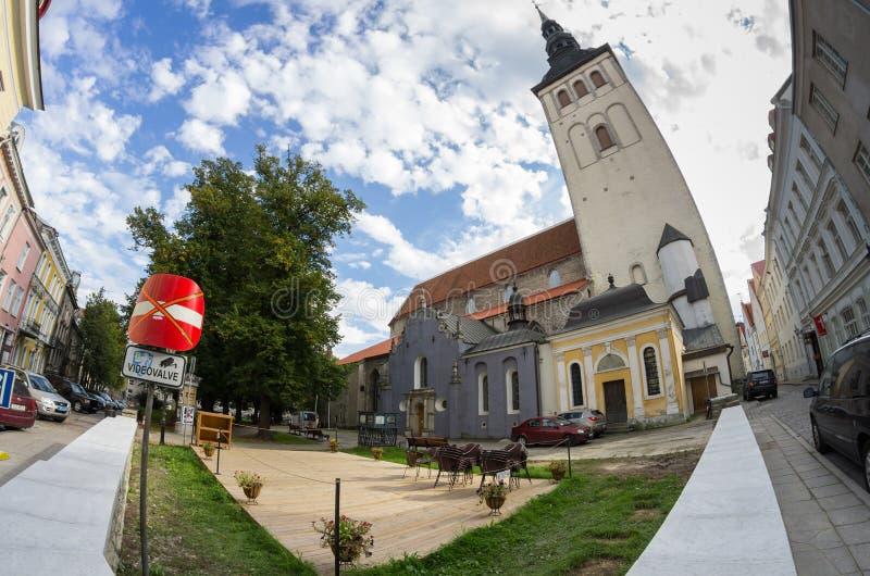 Εκκλησία Άγιου Βασίλη, μουσείο Niguliste στοκ εικόνες