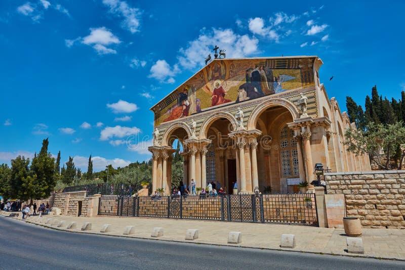 Εκκλησία ή βασιλική της αγωνίας στοκ φωτογραφία