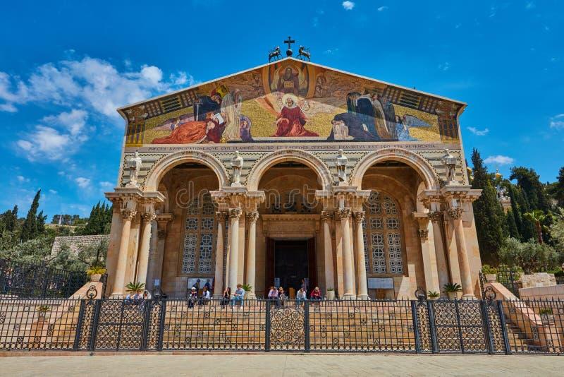 Εκκλησία ή βασιλική της αγωνίας στοκ εικόνα με δικαίωμα ελεύθερης χρήσης