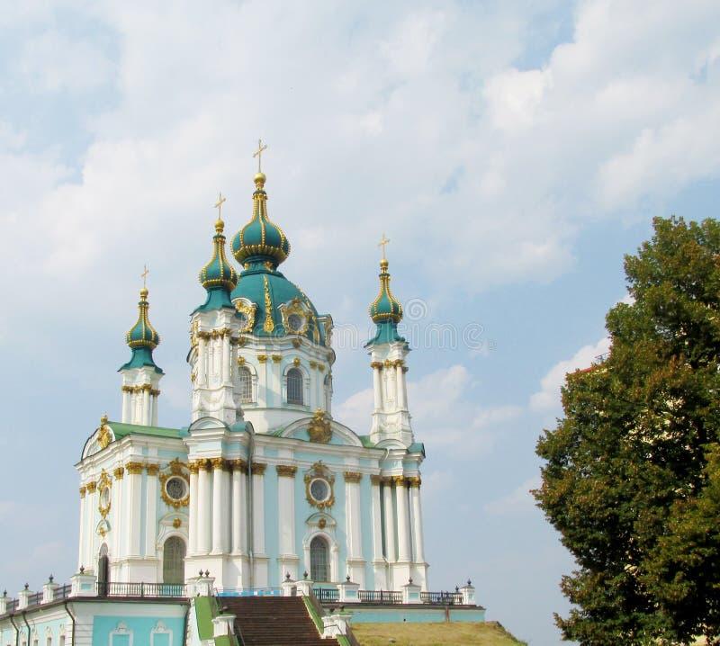 Εκκλησία Αγίου Andrew στο Κίεβο, Ουκρανία στοκ εικόνα με δικαίωμα ελεύθερης χρήσης