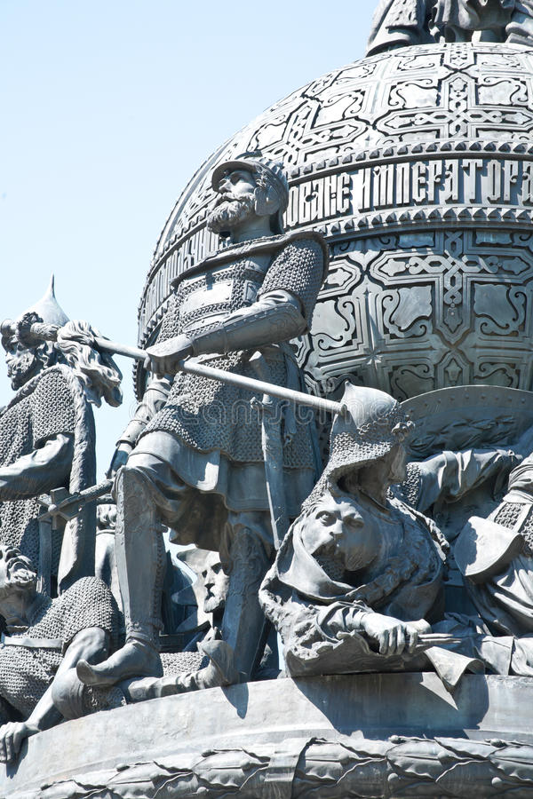 εκκλησία δημοπρασίας υπόθεσης novgorod veliky Το μνημείο στο Novgorod Κρεμλίνο Millenniu στοκ φωτογραφία
