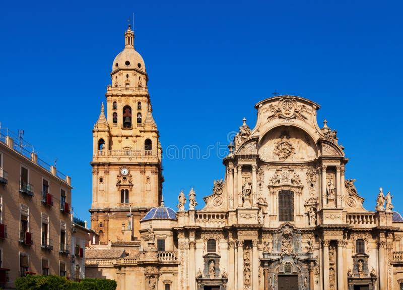 Εκκλησία καθεδρικών ναών Αγίου Μαρία στο Murcia Ισπανία στοκ εικόνα με δικαίωμα ελεύθερης χρήσης