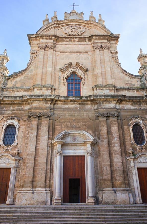 Εκκλησία καθεδρικών ναών βασιλικών Monopoli Πούλια Ιταλία στοκ φωτογραφίες με δικαίωμα ελεύθερης χρήσης