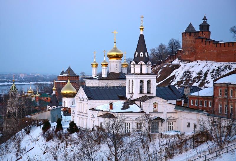 Εκκλησία και Κρεμλίνο σε Nizhny Novgorod στοκ φωτογραφίες
