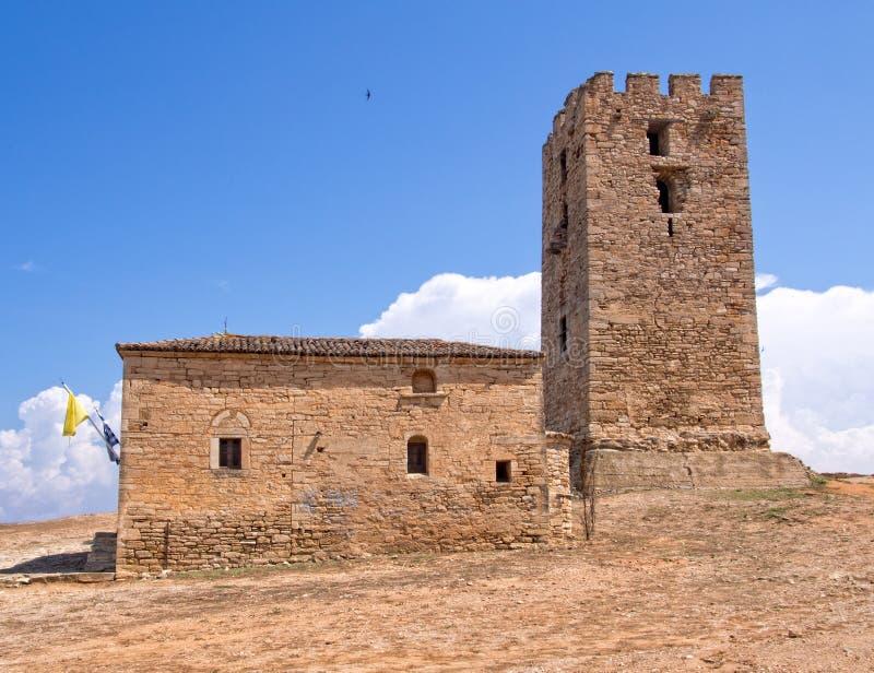 Εκκλησία και πύργος στοκ εικόνες