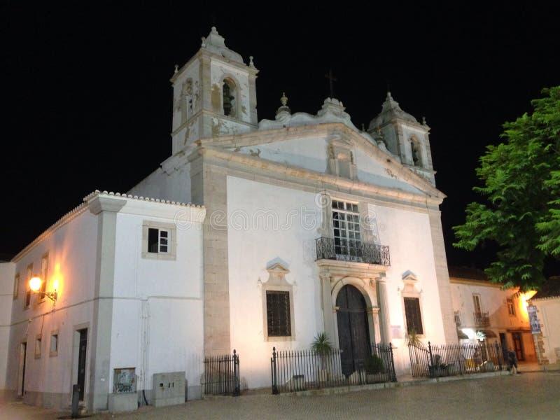 Εκκλησία Λάγκος Αλγκάρβε Πορτογαλία της Σάντα Μαρία στοκ εικόνα