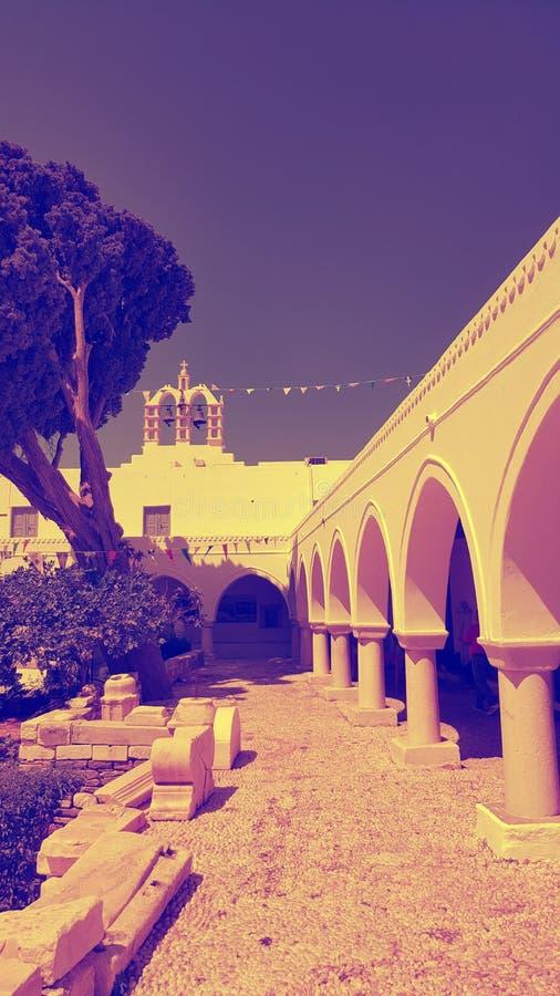 Εκκλησία 100 πορτών, Parikia, νησί Paros, Ελλάδα στοκ φωτογραφία με δικαίωμα ελεύθερης χρήσης