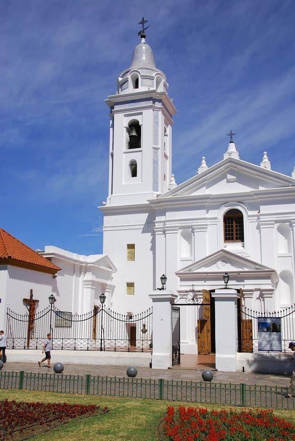 Εκκλησία που αφιερώνεται σε Nuestra Segnora del Πιλάρ στοκ εικόνα