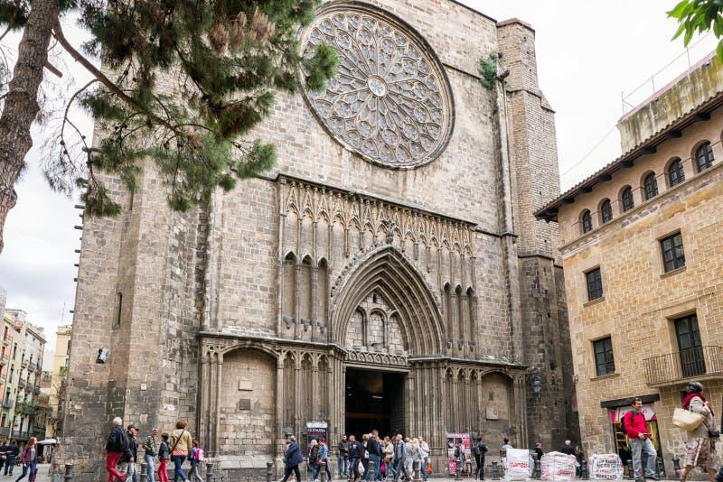 Εκκλησία Σάντα Μαρία del pi, Βαρκελώνη - Ισπανία στοκ εικόνες