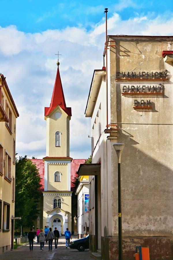 Εκκλησία σε Liptovsky Mikulas στοκ εικόνες
