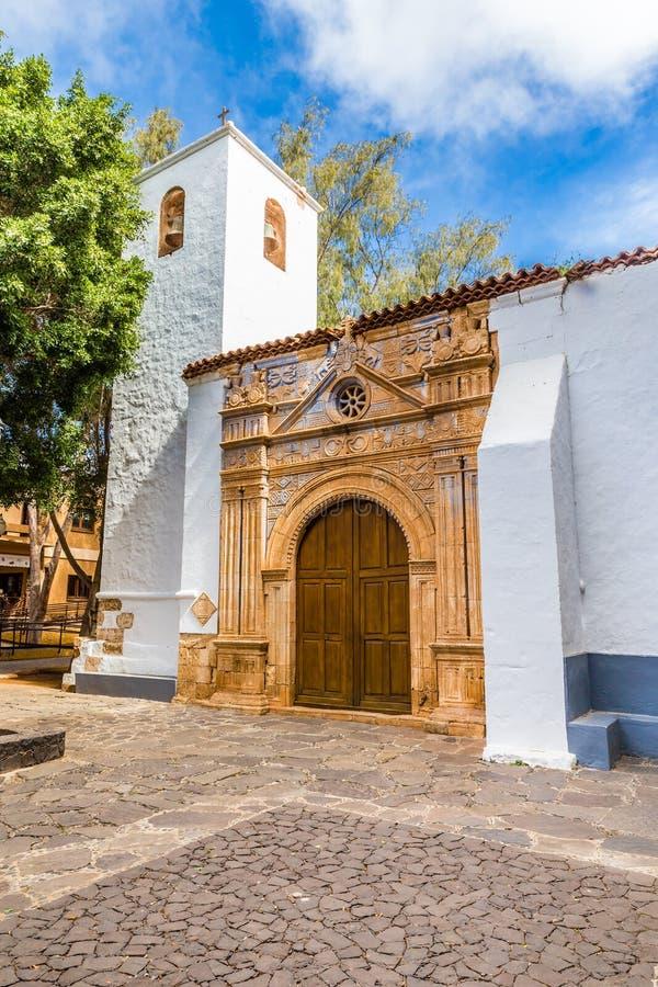 Εκκλησία σε Pajara - Fuerteventura, καναρίνι Isl , Ισπανία στοκ φωτογραφία