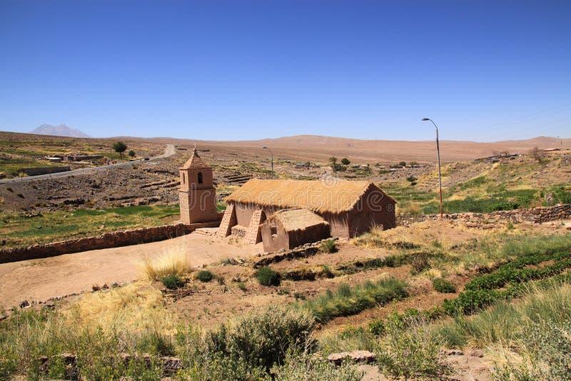 Εκκλησία σε Socaire, Χιλή στοκ φωτογραφία με δικαίωμα ελεύθερης χρήσης