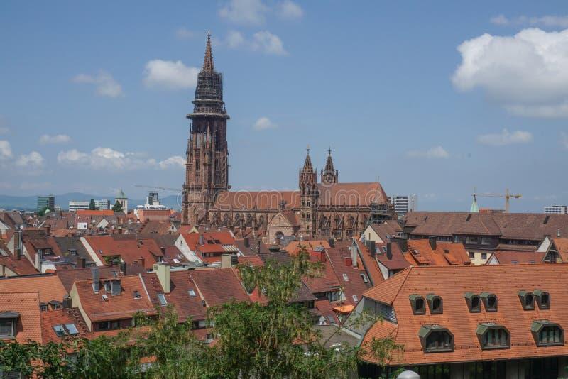 Εκκλησία στην πόλη Freiburg στη Γερμανία στοκ εικόνες με δικαίωμα ελεύθερης χρήσης