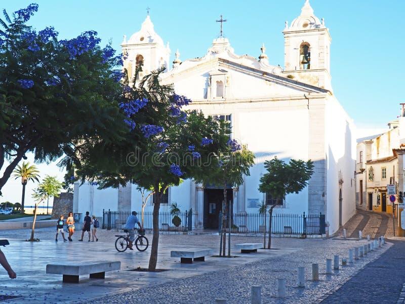 Εκκλησία στο Λάγκος, Πορτογαλία στοκ εικόνα με δικαίωμα ελεύθερης χρήσης
