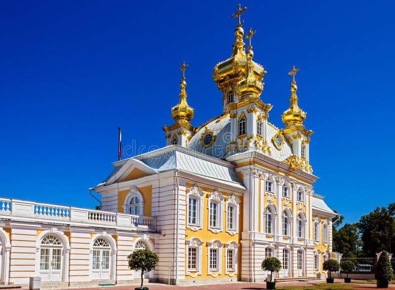Εκκλησία στο παλάτι Peterhof στοκ εικόνα