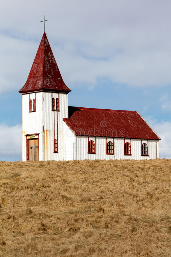 Εκκλησία στο χωριό Hellnar στην Ισλανδία στοκ εικόνες
