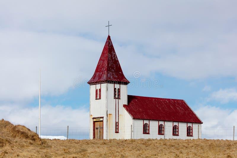 Εκκλησία στο χωριό Hellnar στην Ισλανδία στοκ εικόνα
