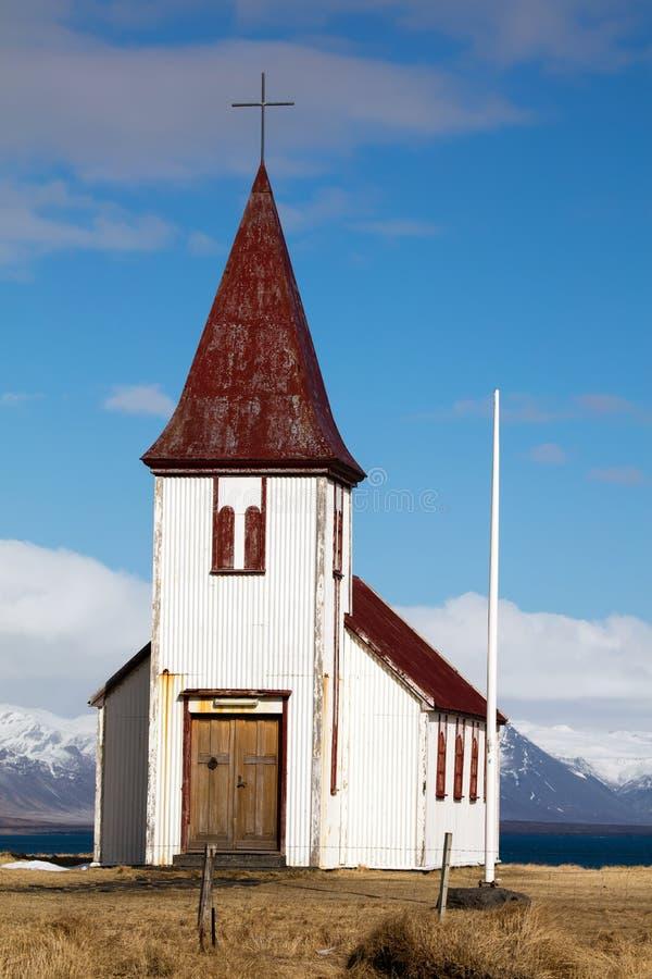 Εκκλησία στο χωριό Hellnar στην Ισλανδία στοκ φωτογραφία με δικαίωμα ελεύθερης χρήσης