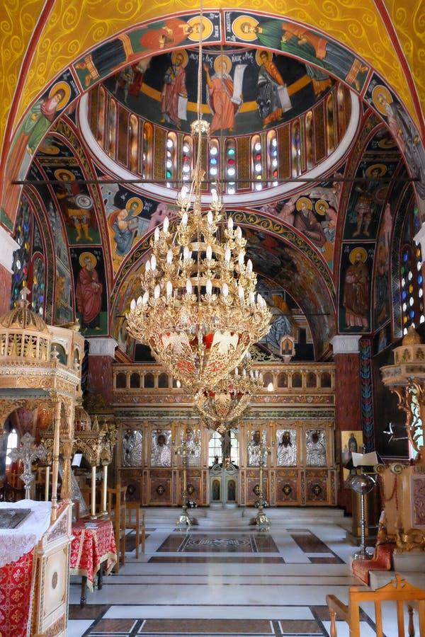 Εκκλησία στο χωριό Siana Ρόδος, Ελλάδα στοκ εικόνα