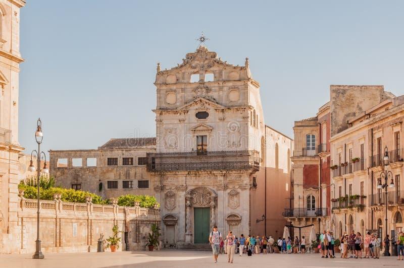Εκκλησία της Αγίας Λουκία στις Συρακούσες, Ortigia στοκ εικόνα με δικαίωμα ελεύθερης χρήσης