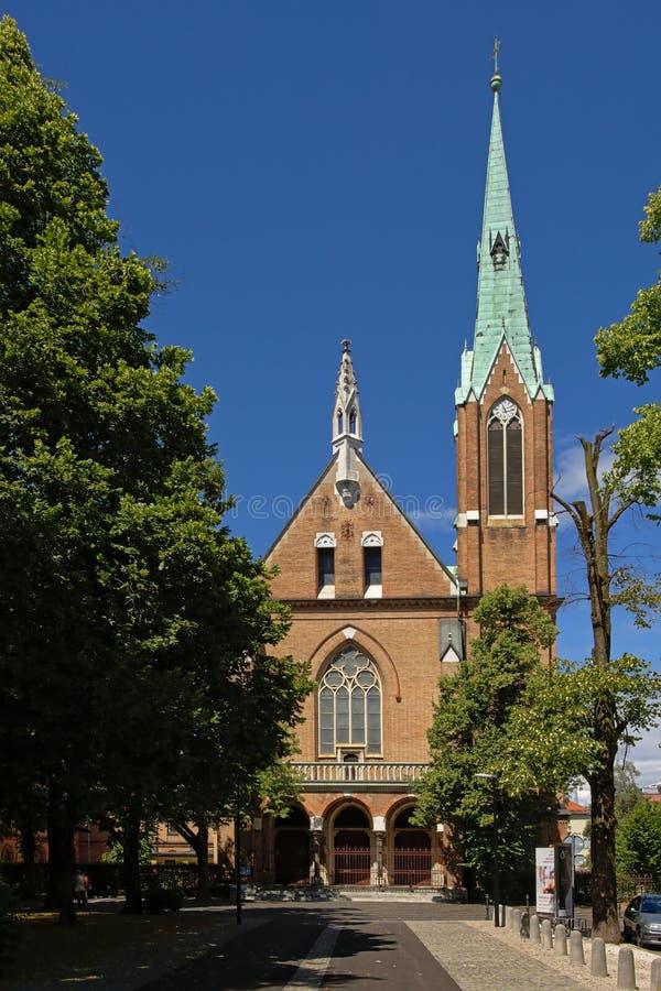 Εκκλησία της καρδιάς του Ιησού, Λουμπλιάνα στοκ φωτογραφίες