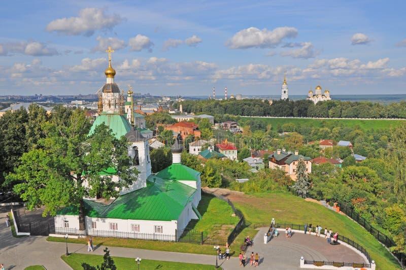 Εκκλησία της μεταμόρφωσης στην πόλη του Βλαντιμίρ στοκ φωτογραφίες