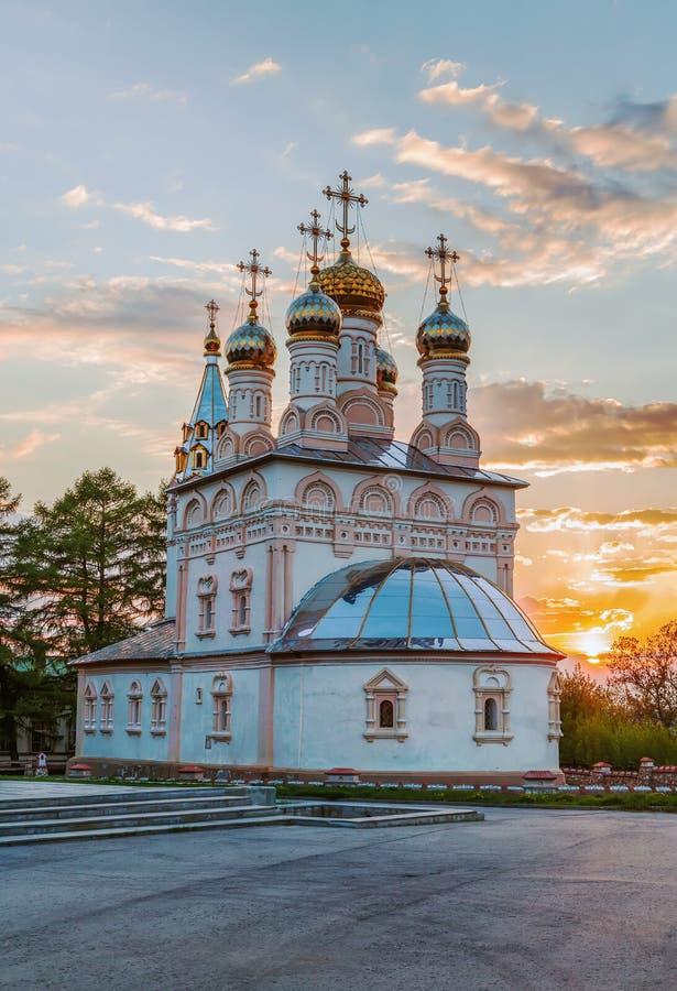Εκκλησία της μεταμόρφωσης του λυτρωτή μας σε Yar, Ryazan, Rus στοκ εικόνα