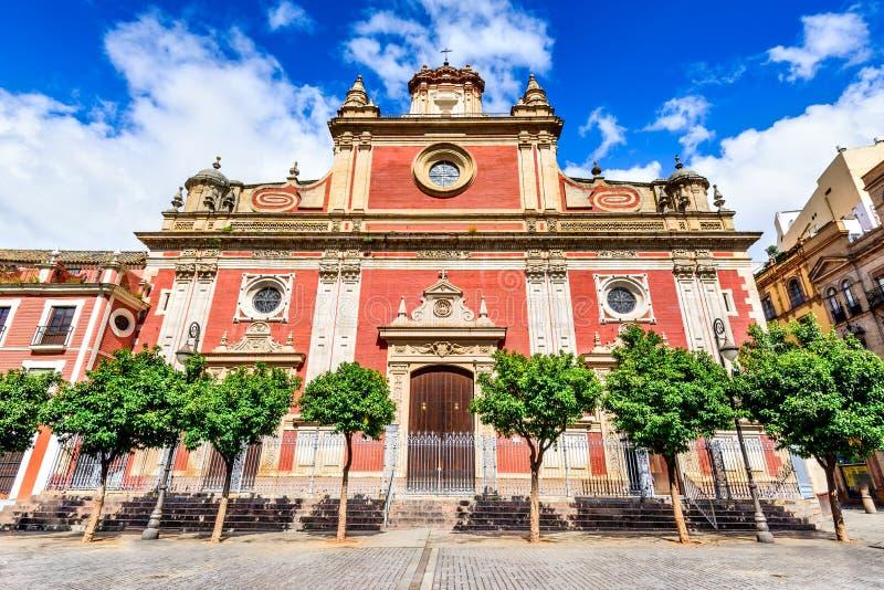 Εκκλησία της Σεβίλης, Ανδαλουσία, Ισπανία - του Ελ Σαλβαδόρ στοκ φωτογραφία με δικαίωμα ελεύθερης χρήσης