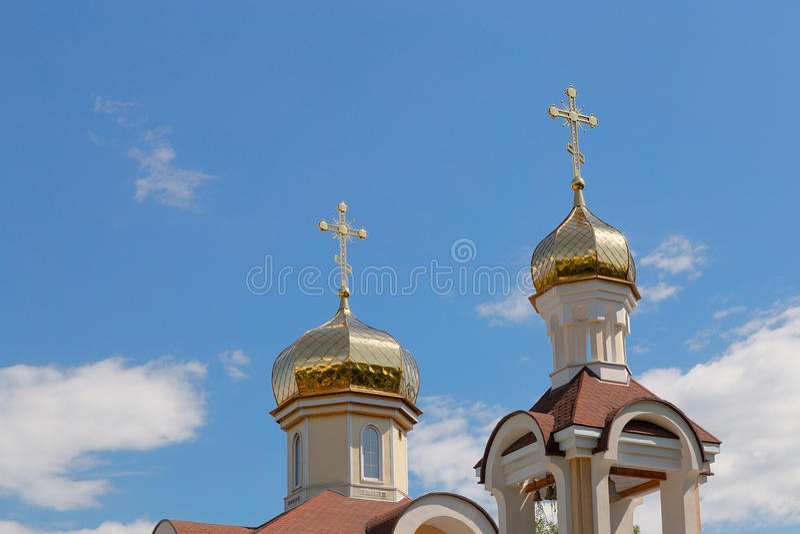 Εκκλησία του Άγιου Βασίλη στην περιοχή του χωριού Romanowicz Gomel, Λευκορωσία στοκ φωτογραφία με δικαίωμα ελεύθερης χρήσης