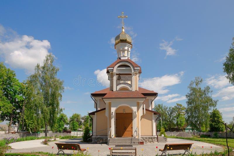 Εκκλησία του Άγιου Βασίλη στην περιοχή του χωριού Romanowicz Gomel, Λευκορωσία στοκ φωτογραφίες