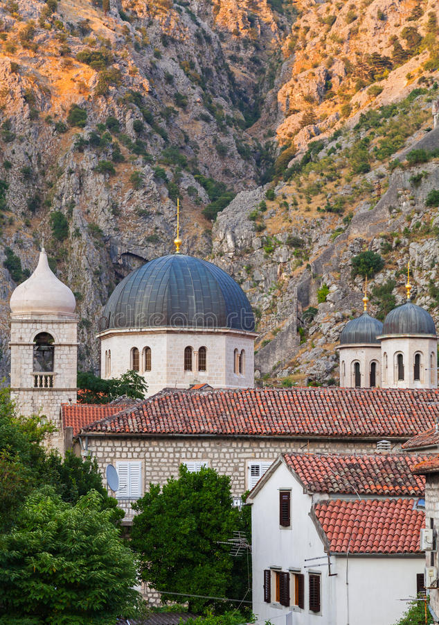 Εκκλησία του Άγιου Βασίλη, Kotor, Μαυροβούνιο στοκ φωτογραφία